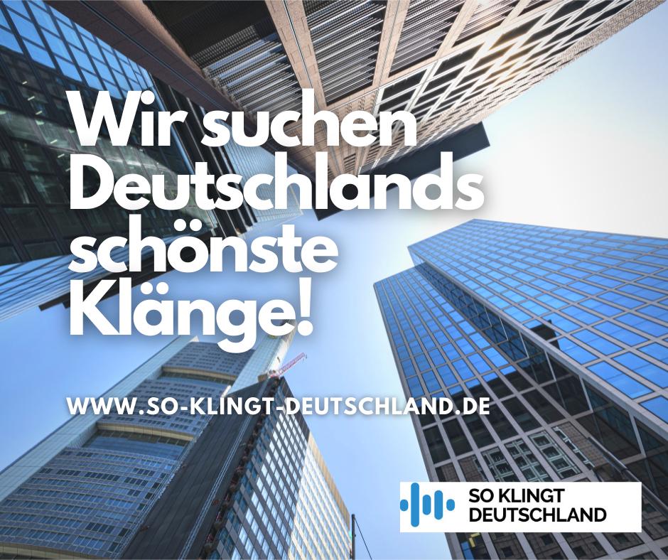 Posting So klingt Deutschland - Initiative Geräusch in Deutschland - Hörschädigung Hörgeräte