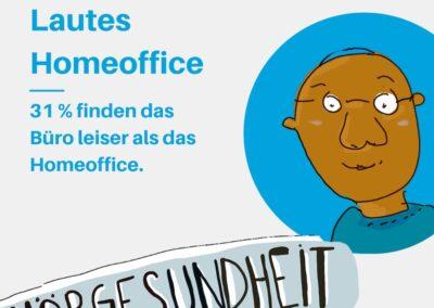 31% finden das Büro leiser als das Homeoffice